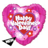 "18"" Valentine's Daisies & Stripes Mylar Foil Balloons"
