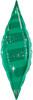 "38"" Taper - Emerald Swirl Mylar Foil Balloon"