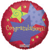 "18"" Congratulations Stars & Twists Foil Balloon"