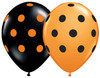 "11"" Big Polka Dots Halloween Latex Balloons"