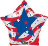 "18"" Patriotic Stars Mylar Foil Balloon"