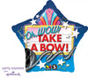 "18"" Oh Wow Take A Bow Mylar Foil Balloon"