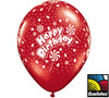 "11"" Happy Birthday Candy-A-Round Latex Balloons - 5 Ct Bag"