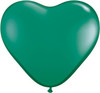"Heart  6"" Jewel Emerald Green Latex Balloons"