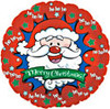 "18"" Merry Christmas Santa Mylar Foil Balloon"