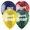 "12"" Festive Happy Birthday Latex Balloon"