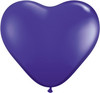 "Heart  6"" Jewel Quartz Purple Latex Balloons"