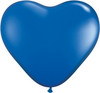 "Heart  6"" Jewel Sapphire Blue Latex Balloons"