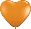 "Heart  6"" Jewel Mandarin Orange Latex Balloons"