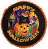 "18"" Happy Halloween Cat & Pumpkin Mylar Foil Balloon"