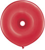 "Geo Donut 16"" Jewel Ruby Red Latex Balloons"