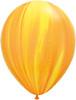 """Round 30"""" Yellow Orange Rainbow SuperAgate Latex Balloons"""