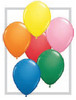 "Round 11"" Standard Assortment Latex Balloons - 100 Ct (43756)"