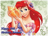 Ariel Little Mermaid Cake Edible Icing Image #1