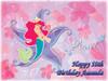 Ariel Little Mermaid Cake Edible Icing Image #2