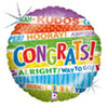 "18"" Lots O' Congrats Mylar Foil Balloon"