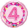 "18"" 4th Birthday Girl - Make It Count Series Mylar Foil Balloon"