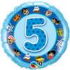 "18"" 5th Birthday Boy - Make it Count Serices Mylar Foil Balloon"
