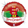 "18"" Santa Belly Mylar Foil Balloon Mylar Foil Balloon"