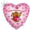 "18"" Bear Hugs Valentine Mylar Foil Balloon"