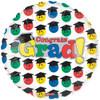 """18"""" Congrats Grad Smile Mylar Foil Balloon"""