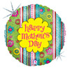"18"" Swirly Garden Mothers Day Mylar Foil Balloon"