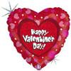 "18"" Valentine Hearts & Dots Mylar Foil Balloon"