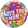 "18"" Mom Psychedelic Daisies Mylar Foil Balloon"
