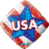 "18"" USA Red, White, & Blue Mylar Foil Balloon"