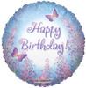 """18"""" Purple Lilacs Birthday Mylar Foil Balloon"""