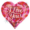 "30"" I Love You Jeweled Mylar Foil Balloon"
