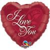 "36"" I Love You Red Rose  Mylar Foil Balloon"