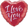 "36"" I Love You Modern Script Mylar Foil Balloon"
