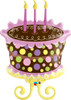 "38"" Birthday Decorated Cake Shape Mylar Foil Balloon"