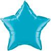 "Star 20"" Turquoise Mylar Foil Balloon"