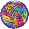 "22"" Total Fun Congrats Mylar Foil Balloon"