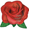 "25"" Rose Floatagraph Valentine's Day Shape Mylar Foil Balloon"