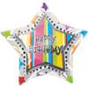 "27"" Birthday In-Liner Shape Mylar Foil Balloon"