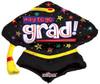 "28"" Grad Cap Shape Mylar Foil Balloon"