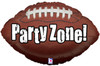 "29"" Party Zone Football Shape Mylar Foil Balloon"