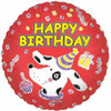 "18"" Birthday Puppy Party Mylar Foil Balloon (single-sided)"