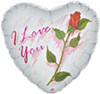 "18"" I Love You Rose Mylar Foil Balloon"
