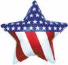 "18"" Patriotic Star Mylar Foil Balloon"