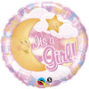 "18"" Its A Girl Celestial Mylar Foil Balloon"
