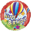 "18"" Birthday Hot Air Mylar Foil Balloon"