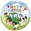 "18"" Birthday Barnyard Mylar Foil Balloon"