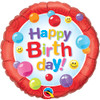 "18"" Birthday Candy Gumballs Mylar Foil Balloon"