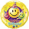 "18"" Smiley Faces Birthday Mylar Foil Balloon"