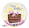 "18"" Birthday Chocolate Cake Slice Mylar Foil Balloon"