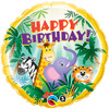 "18"" Birthday Jungle Friends Mylar Foil Balloon"